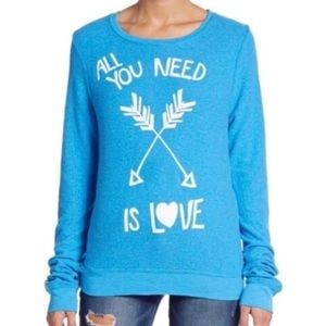 Wildfox nwot all you need is love sweatshirt m
